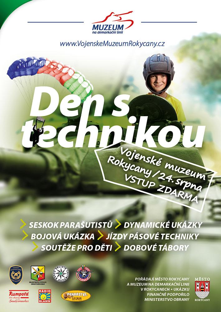 Vojenské muzeum Rokycany pořádá akci s názvem Den s technikou, která je zaměřená na vojenskou techniku.
